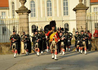 Gordons on Parade 2017 Targe of Gordon mit Drum Major Michael Seifert