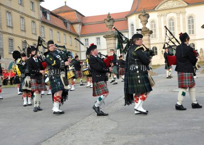 Gordons on Parade 2017 Massed Pipes and Drums auf Paradeplatz